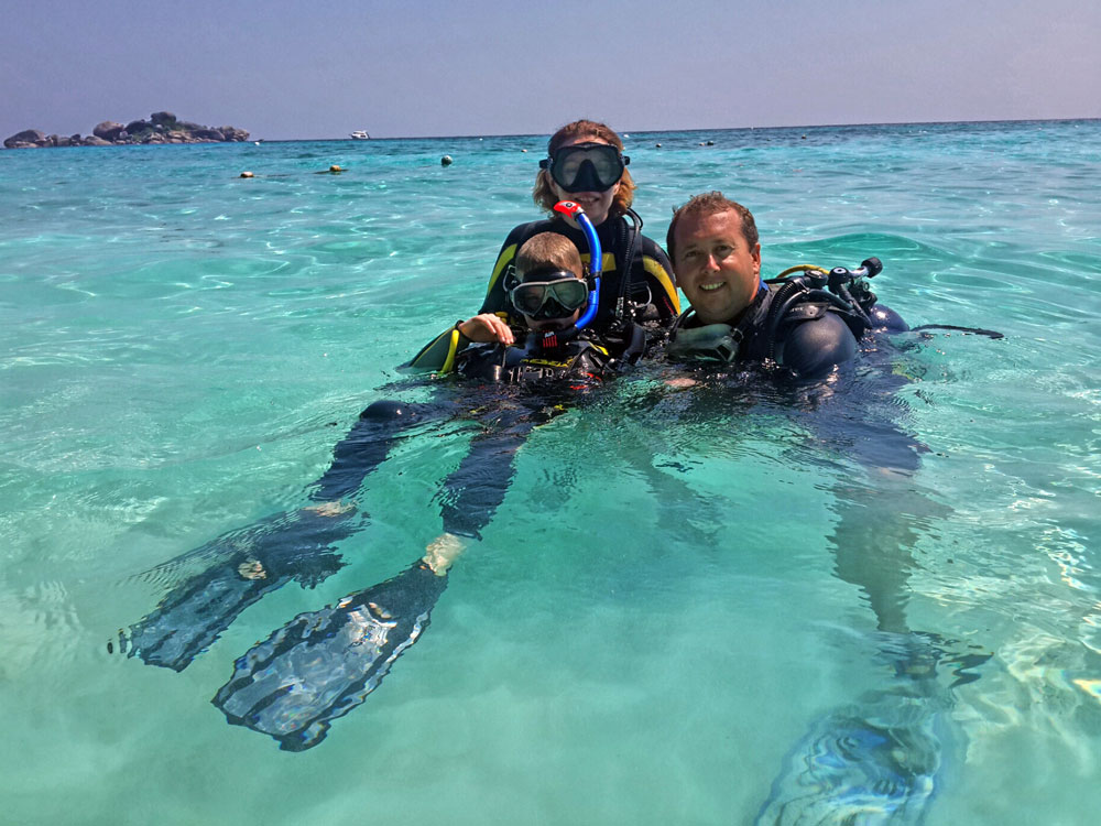 bubblemaker in the similan islands