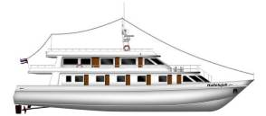 MV Hallelujah Side View Deck Plan