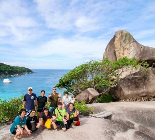 Hallelujah guests in the Similan Islands