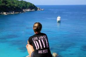 Diving staff at Similan Islands with MV Hallelujah Liveaboard