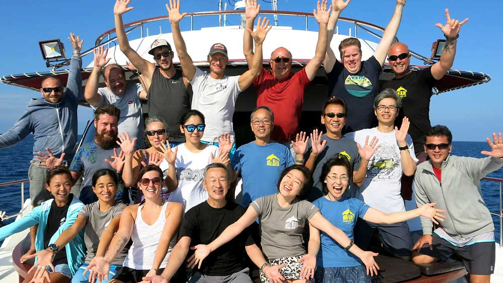 Group Photo on MV Hallelujah Similan Liveaboard