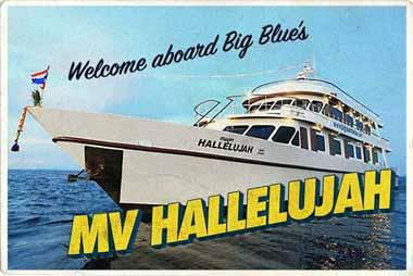 Similan Liveaboard MV Hallelujah postcard