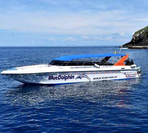 Similand Islands Diving speedboat at Koh Bon