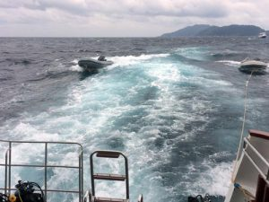 Bad weather in the Similan Islands