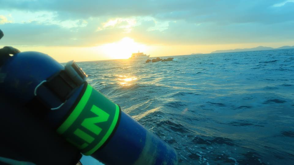 Nitrox, Richelieu Rock, MV Hallelujah, Sunset, sea