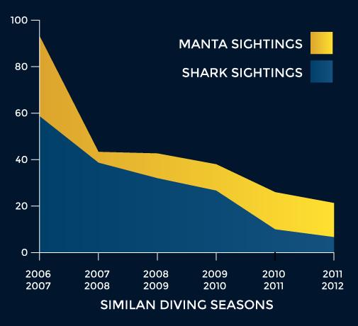 Shark sightings in the Similan Islands