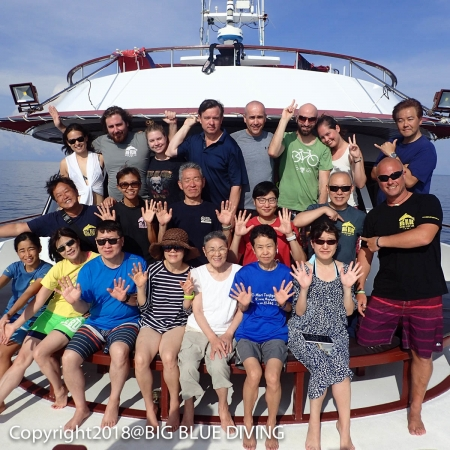 Scuba Divers on MV Hallelujah in the Similan Islands