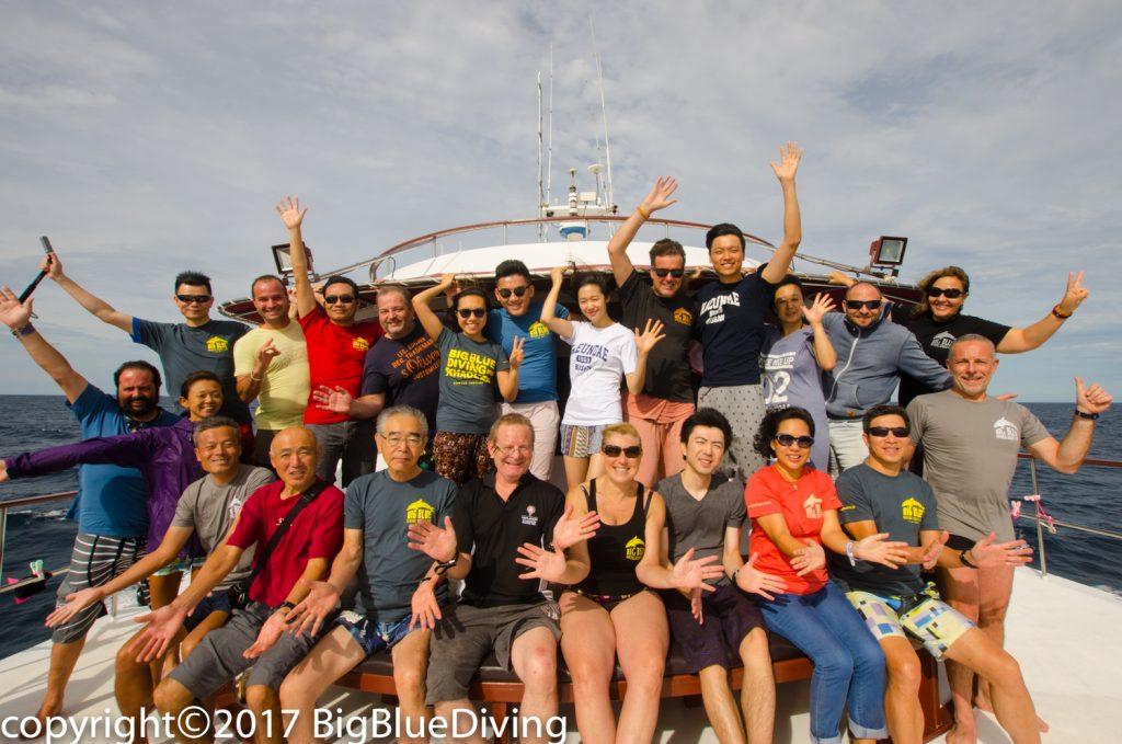 Trip 9 Similan liveaboard group photo