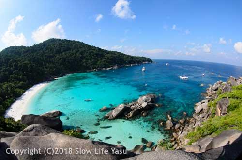 View over the bay at Similan Island 8