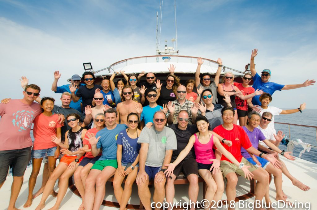 Group photo Similan liveaboard trip 31