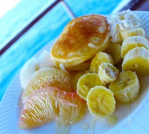 Food on board the MV Hallelujah Lilveaboard