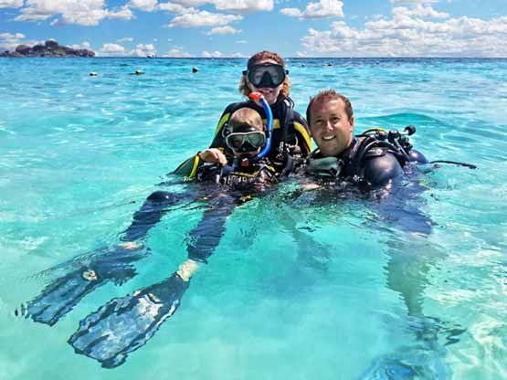 Similan Islands Diving courses with Big Blue